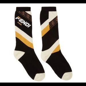 Other - Black 'Fendi Mania' Socks
